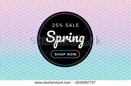 Spring Sale Background Beautiful Texture Pink And Green Gradient Colors Vector Illustration Spri Flower Background Design Beautiful Textures Color Vector