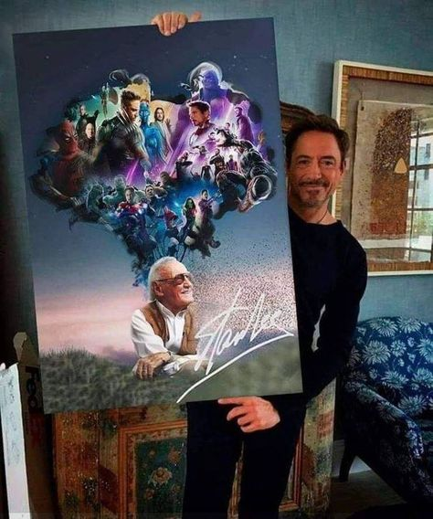 Stan Lee's respectable vision and creativity from out his own mind #TonyStark #TheAvengers