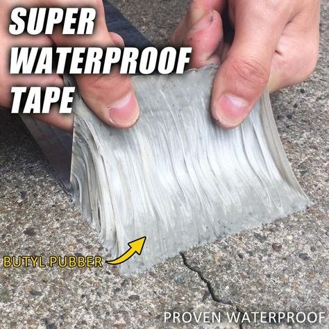 The Super Waterproof Tape is commonly known as foil tape. These tapes come with Butyl rubber that is extruded, ever-tacky and pressure-sensitive sealant with good adhesion strength. They can form an instant seal against water, air or dust, and remain permanently soft. They are ideal for filling gaps and sealing joints