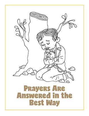 Primary Ctr May Lesson Helps Coloring Page Prayers Are Answered