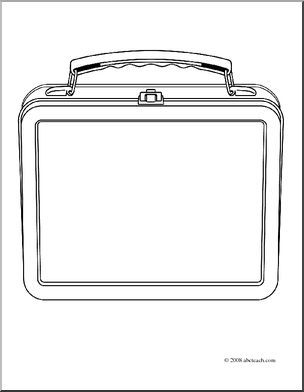Clip Art Lunch Box Coloring Page I Abcteach Com Large Image