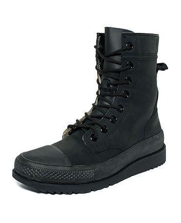 a4428882d15dcd Mens Shoes - Converse Chuck Taylor All Star Hi - Black Mono - 135251C