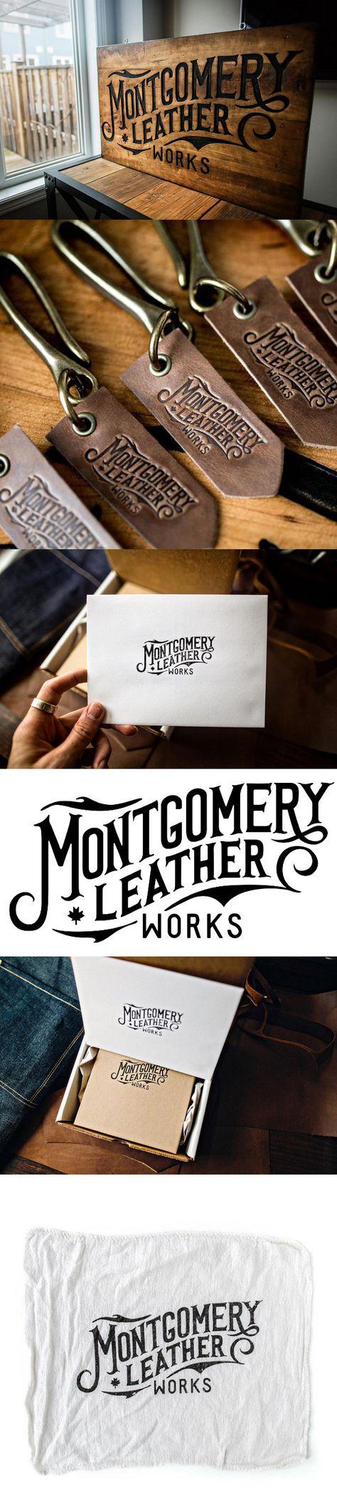 Montgomery Leather Works Branding by Oban Jones