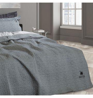 66d4fb66311 Κουβερτοπάπλωμα Υπέρδιπλο 220x240 Γκρι Krystal Rythmos | Οικία & Διακόσμηση  | Blanket, Bean bag chair και Bed