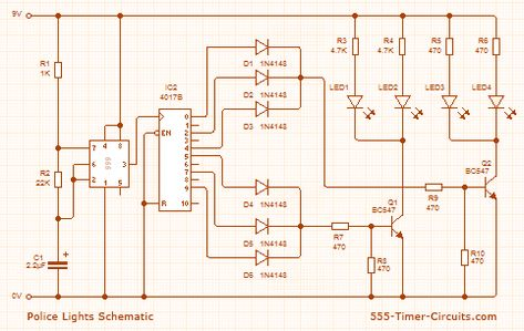 Police light circuit diagram electronic circuits pinterest police light circuit diagram electronic circuits pinterest police lights circuit diagram and circuits asfbconference2016 Image collections