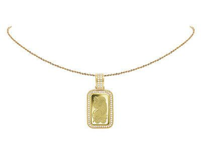 24k Yellow Gold Lady Fortuna 10 Grams Bar Diamond 1 Row Frame Pendant 1 25 Ct 605963296790 Ebay In 2020 Pendant Gold Heart Shape Pendant
