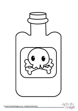 Poison Bottle Colouring Page Halloween Coloring Pages Coloring