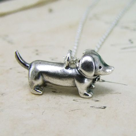 Antique Finish Pewter Dachshund sausage Dog Cufflinks With Gift Box /& Shipped From The UK