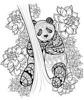 Disegni Da Colorare Per Adulti Animali 108 Immagine Comprendente Panda Sfondo Adu Disegni Da Colorare Libri Da Colorare Pagine Da Colorare Per Adulti