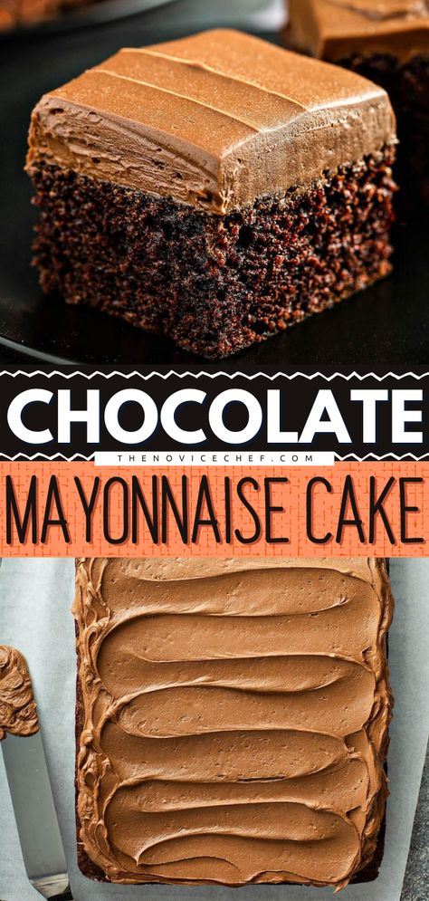 Chocolate Mayonnaise Cake – Only 7 ingredients!