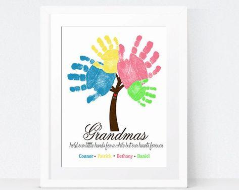 Custom Baby Handprint Wall Art Nursery Decor New Baby Gift | Etsy