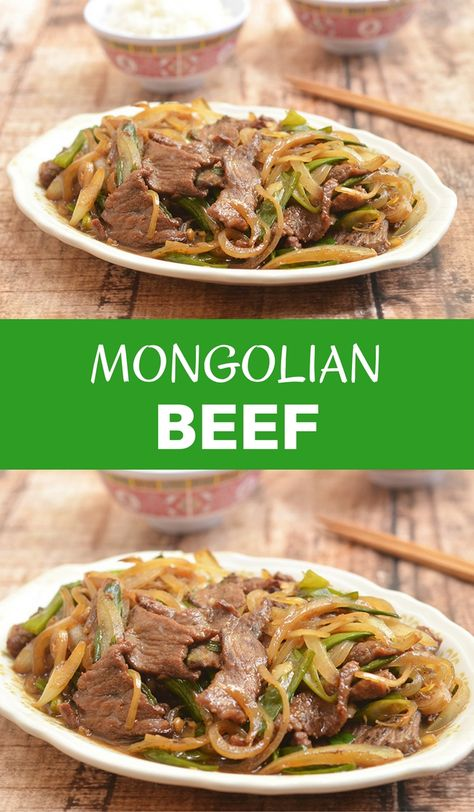 Mongolian Beef Recipe Food Recipes Mongolian Beef Beef Recipes