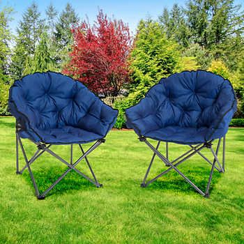 Mac Sports Extra Padded Club Chair 2 Pack Costco Camping Club