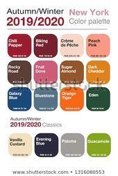 Autumnwinter 20192020 Color Palette Palette Trendy Stock Vector ...