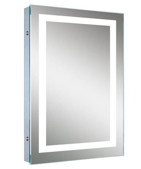Amazoncom Led Backlit Mirror With Border Home Kitchen 1704