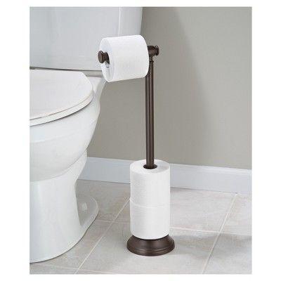 Free Standing Toilet Paper Holder Bronze Interdesign In 2020 Free Standing Toilet Paper Holder Toilet Paper Holder Stand Toilet Paper Holder