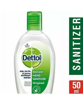 Dettol Instant Hand Sanitizer Original 50ml X 5 Pack Of 5 Ebay