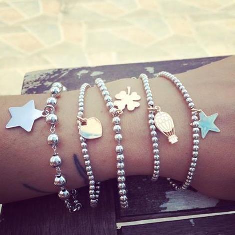 bracciale palline argento pandora