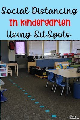 Kindergarten And Social Distancing With Sitspots Kindergarten Classroom Setup Kindergarten Classroom Management Preschool Classroom Setup