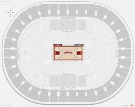 The Most Brilliant Allstate Arena Seating Chart With Rows Philips Arena Seating Charts Quicken Loans Arena