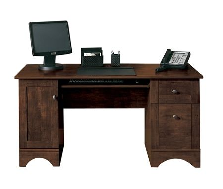 Realspace Dawson 60 W Computer Desk Cinnamon Cherry Item
