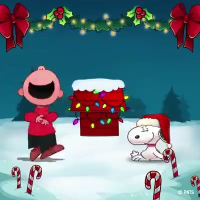 HAPPY CHRISTMAS SNOOPY - INSTALL SNOOPY WALLPAPER NOW!