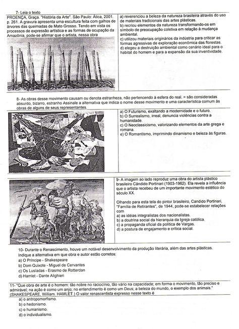 Avaliacao De Ciencias E De Biologia Atividades De Artes Visuais