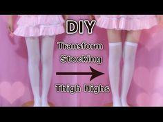00ebf7f3b DIY - Transform Stocking to Thigh Highs (Easy)