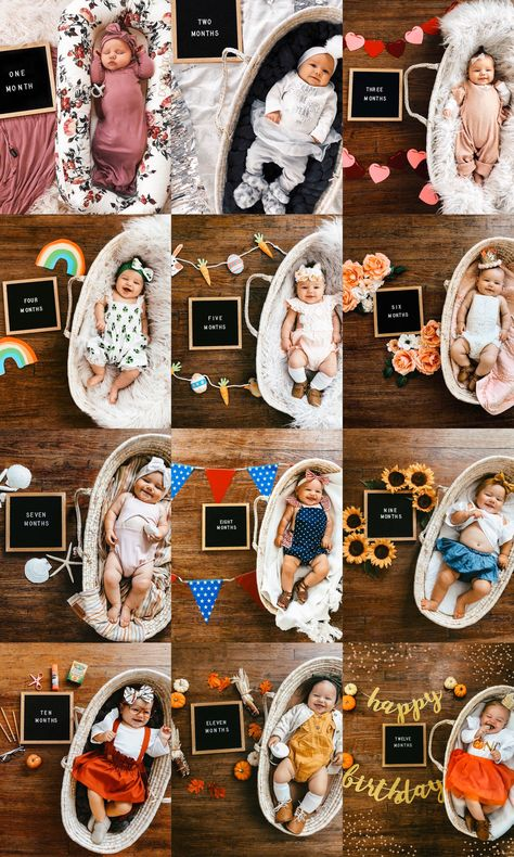 Discover recipes, home ideas, style inspiration and other ideas to try. Monthly Baby Photos, Newborn Baby Photos, Monthly Pictures, Newborn Baby Care, Baby Poses, Baby Birth, Newborn Pictures, Baby Girl Newborn, 6 Month Baby Picture Ideas