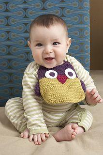 Owl bib ~ free pattern