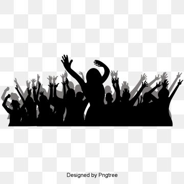Simple Party Cheering Crowd Silhouette Elements Simple Black Grey Cheers Png And Vector With Transparent Background For Free Download Banner Background Images Party Background Party Poster