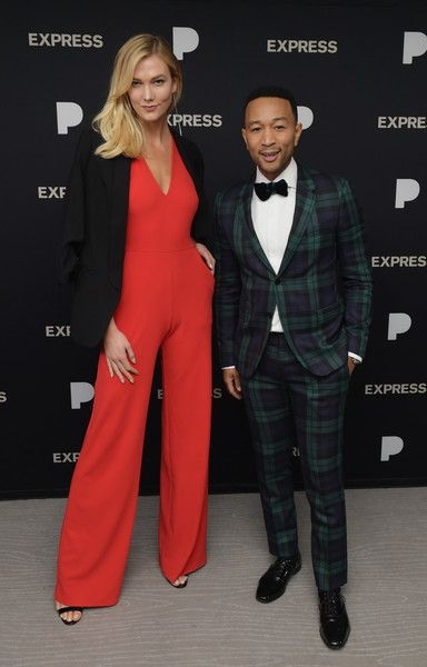 Karlie Kloss and John Legend attend John Legend: A Legendary Christmas powered by Pandora x Express.