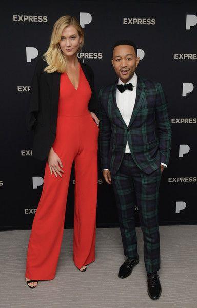 Karlie Kloss and John Legend attend John Legend: A Legendary Christmas powered by Pandora x Express.
