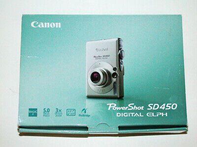 Canon Powershot Sd450 Digital Elph Camera W 2 Batteries Digital Camera Powershot Digital
