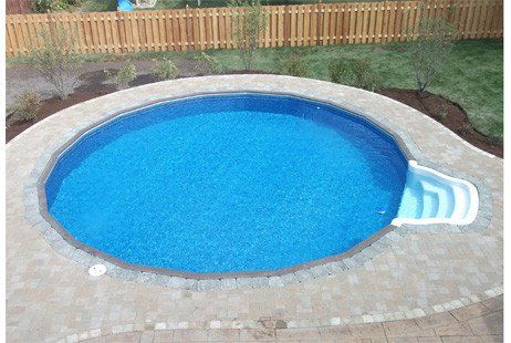 Ultimate 15 Round On Ground Pool Kit Brown Synthetic Wood Coping Walk In Steps Free Shipping Lifetime Warranty 61074 With Images Pool Kits In Ground Pools Pool