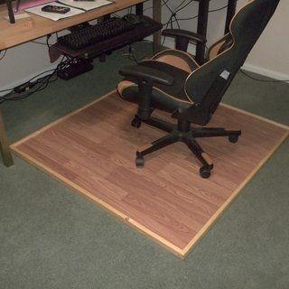Wooden Chair Mat Plans, Office Chair Mat For Laminate Flooring