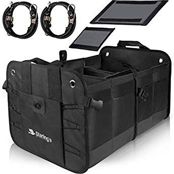Interior of SUV Jeep Heavy Duty Caddy with Insulated Cooler Bag Front Seat Subaru Tuff Stuff Box Car Trunk and Backseat Storage Organizer: Collapsible Organizers for Truck Bed Sedan Minivan