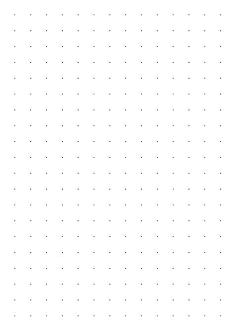 Printable Dot Grid Paper with 10 mm spacing PDF Download