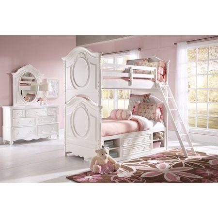 Sweetheart Youth Twin Bunk Bed W Laddersweetheart Ladder Walmart Com In 2021 White Beds Kids Full