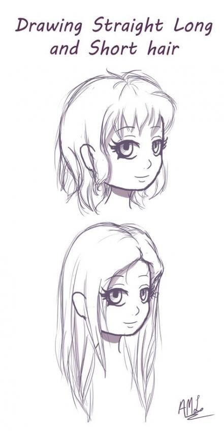 45 Ideas Hair Drawing Straight Anime Girls How To Draw Hair Sketch Book Drawing Reference
