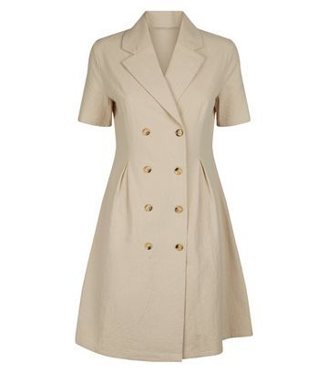 ef694445398c70 Mela Navy Tulip Pocket Front Dress