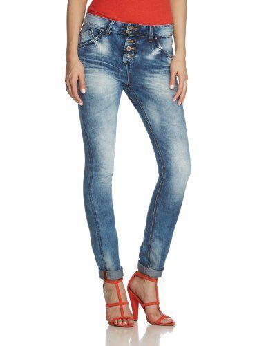 M.O.D Damen Boyfriend Jeans Iliana SP14-2067, Gr. W27/L32, Blau (Ash blue)