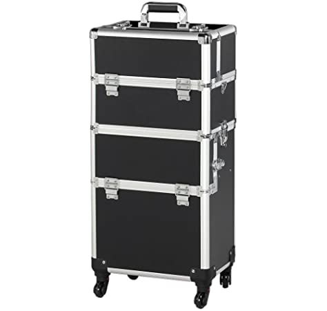Yaheetech Mallette A Maquillage Valise De Cosmetic Bijoux Beauty Case Trolley Coiffure Nail Professionnel Pour Voyage N Maquillage Mallette Maquillage Coiffure