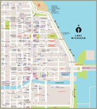 Chicago Magnificent Mile Hotels Map Newatvsinfo - Chicago hotels map