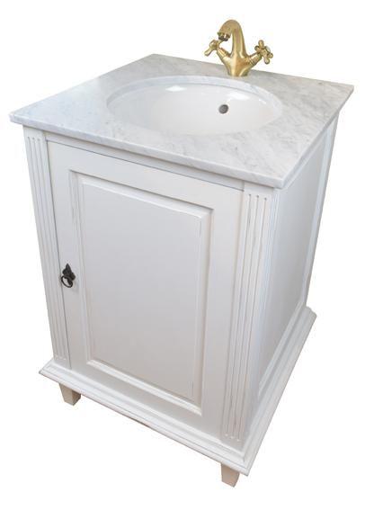 Unika Gammaldags badrumsskåp med marmorskiva 61 cm bred. Välkommen in MD-06