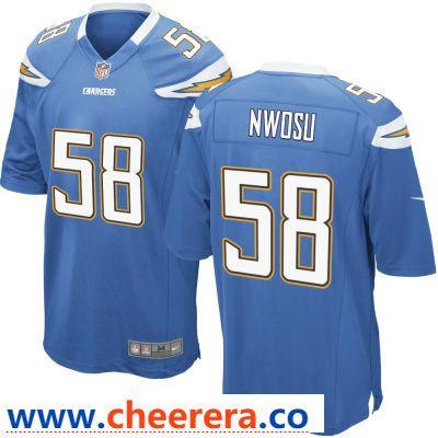 Men S Los Angeles Chargers 58 Uchenna Nwosu Light Blue Alternate Stitched Nfl Nike Game Jersey Jersey Nfl Nfl Jerseys