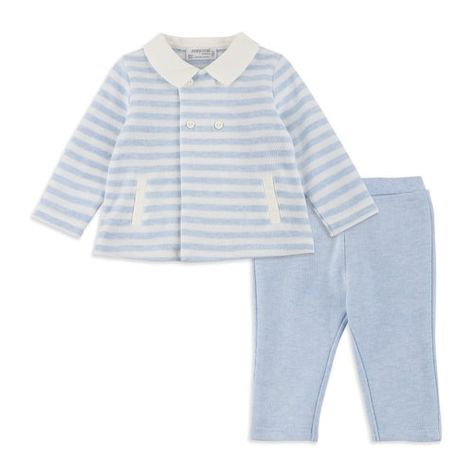 6b243f462895 Baby Boys Knit Outfit Set - Sky White