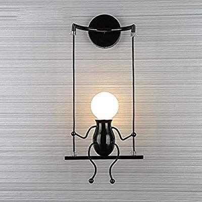 Fsth Einfache Wandleuchte Schwingen Metall Wandleuchte Kreatives Wandlampe Cartoon Lampe Fur Bar Schlafzimmer Kuche Re Led Lampen Wohnzimmer Lampe Wandlampe