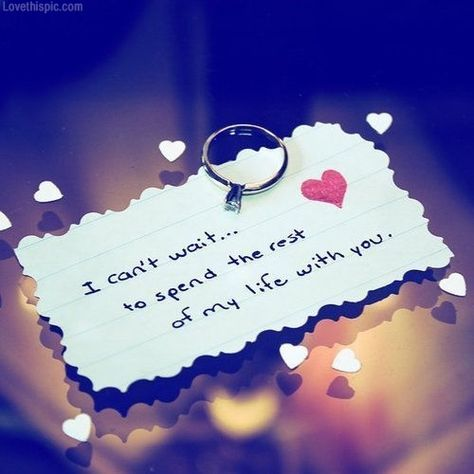I Can T Wait To Spend The Rest Of My Life Quotes Cute Heart