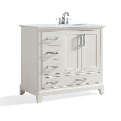 Wyndenhall Atwood 36 Bath Vanity With Bombay White Quartz Marble